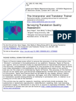 Surveying Translation Quality Assessment (2014)