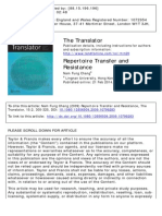 Repertoire Transfer and Resistance (2009)