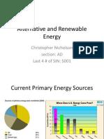 Alternative and Renewable Energy - University of Washington - NicholsonC