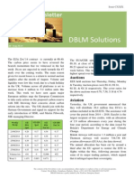 DBLM Solutions Carbon Newsletter 28 Aug 2014