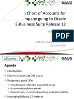 Designing a Chart of Accounts for a Global Company Going to Oracle E Business Suite Release 12 Ppt