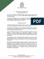 Resolución Distinción al Carlos Lopez Jaramillo, Medicina, UdeA