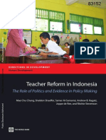 Teacher and Lecturer Reform in Indonesia