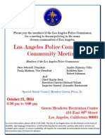 Los Angeles Police Commission Community Meeting
