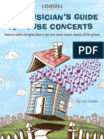 Musicians Guide to House Concerts