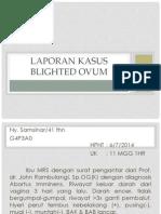 presentasi kasus Blighted ovum