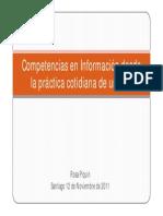 Competencias en Información desde la práctica cotidiana de una BE