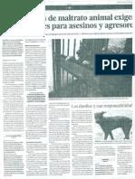 Nuevos casos de maltrato animal exigen leyes urgentes para asesinos y agresores