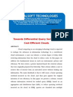 2014 IEEE .NET CLOUD COMPUTING PROJECT Towards Differential Query Services in Cost-Efficient Clouds