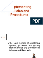 10-Implementing Policies and Procedures