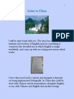 Letter to China