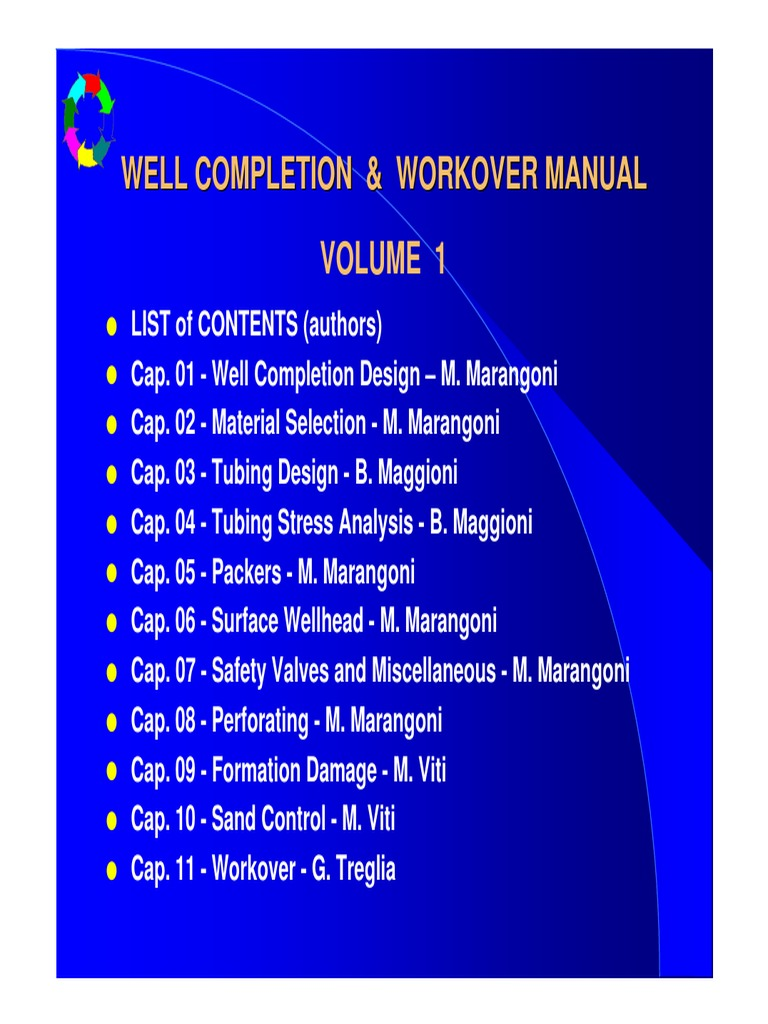 p1r8789a well completion workover manual volume1 petroleum rh scribd com Hydraulic Workover workover operations manual