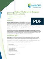 Sanbolic Clustering Windows File Servers