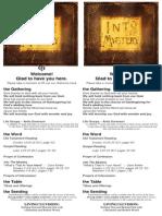 Bulletin for September 14, 2014
