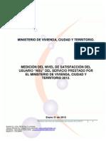 Medición del nivel de satisfacción del usuario NSU del servicio prestado por el Ministerio de Vivienda 2013.pdf