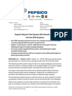 PepsiCo Reports Third Quarter 2014 Results and Raises