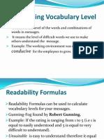 Determining Vocabulary Level