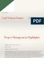 Carl Nelson France Resume