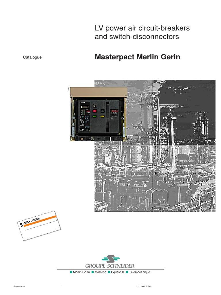 Catálogo Masterpact | Switch | Power (Physics)