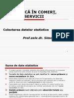 Completare Curs Statistica in Comert, Turism, Servicii