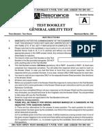 SCRA Paper 1(General Ability Test) Sol
