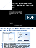 Perspectives on Best Practice in Capability Building GE Case Study[1]