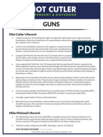 One Pager - Gun Safety