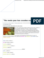 Liste Des Produits Alimentaires Les Moins Chers - _Ne Mets Pas Tes Coudes Sur La Table !