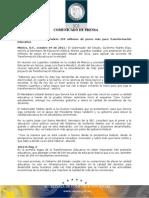 04-10-2011 Guillermo Padrés se reunió con el secretario de la SEP Alonso Lujambio I. donde solicitó una ampliación de 250 millones de pesos en el presupuesto estatal del 2012 para agilizar las acciones. B101115