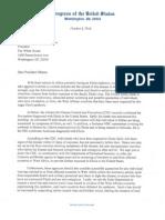 Ebola Virus Letter to President Obama 10 8 2014