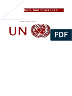 Model UN_2009 Rules and Procedures