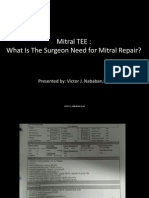 Mitral TEE What is the Surgeon Need