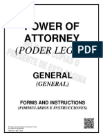 General Power of Attorney - Spanish