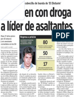 09-10-2014 Detienen con droga a líder de asaltantes