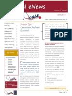 UA OMSE Med/Ed eNews v3 No. 03 OCT 2014