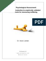Workshop 4 - Dr Aaron Jarden - Positive Psychological Assessment Workbook