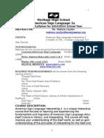 2014 heritage asl 3 syllabus