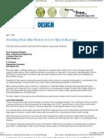 Avoiding StickSlip Chatter in Bearings