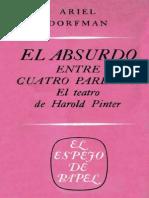 Ariel Dorfman El absurdo entre cuatro paredes El teatro de Harold Pinter  1968.pdf