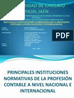 DIAPOSITIVA DE LA INSTITUCIONES QUE NORMAN LA PROFESIÓN CONTABLE.pptx