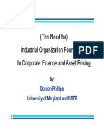 Industrial Organization Foundations for Finance