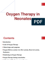 Oxygen Therapy in Neonates