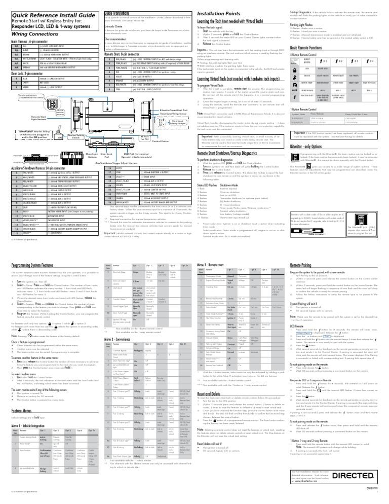 viper 4806v install guide manual transmission manufactured goods rh pt scribd com Viper 5900 Remote Replacement Viper 5900 Remote Start