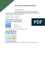 Cara Membuat Label Di Microsoft Word 2007
