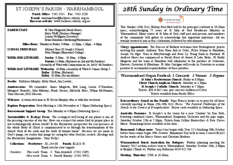12th October 2014 | Parish | Catholic Church