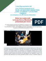 La acupuntura y la moxibustion Patrimonio Cultural Intangible de la Humanidad. UNESCO Nov. 2010.doc