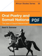 Oral Poetry and Somali