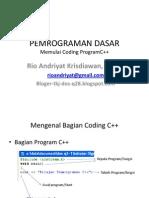 Memulai Coding Program C++ P3 ku