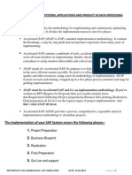 ASAP Methodology - SAP