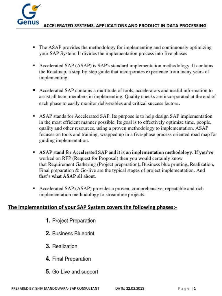 Asap methodology sap business process implementation malvernweather Images